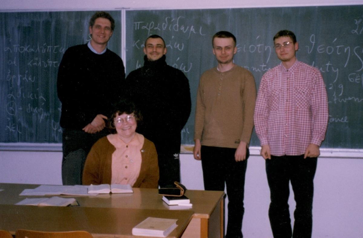 Nela Horak Williams and students