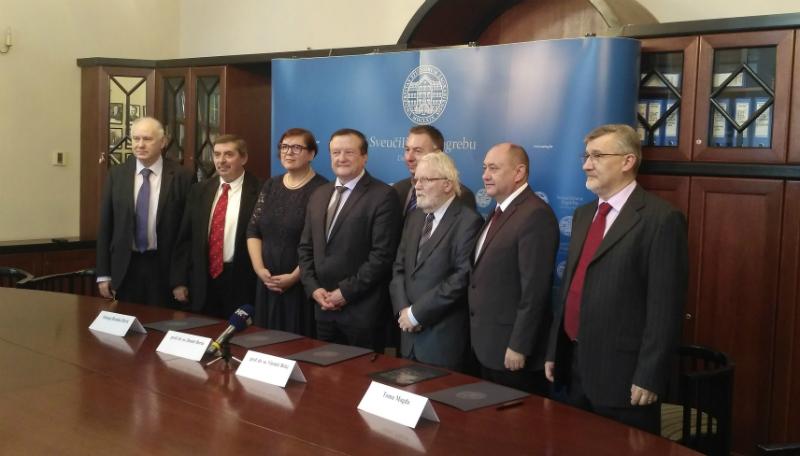 Potpisivanje sporazuma između Sveučilišta u Zagrebu i Teološkog fakulteta Matija Vlačić Ilirik.
