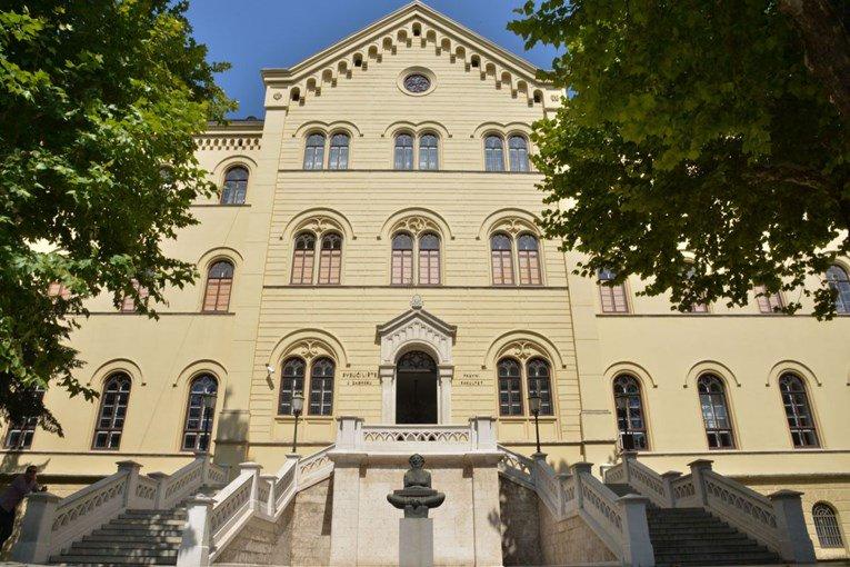 Zgrada Sveučilišta u Zagrebu.